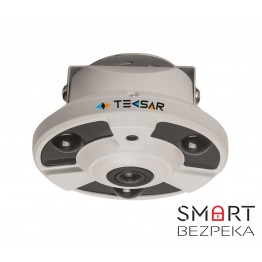 Видеокамера AHD купольная Tecsar AHDD-2Mp-10Fl-FE (fisheye)