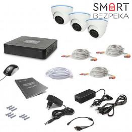 Комплект видеонаблюдения Tecsar 3OUT-DOME