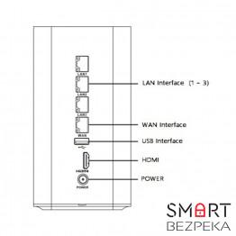 IP Сетевой видеорегистратор Wi-Fi 8-канальный Hikvision DS-7108NI-E1/V/W