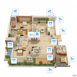 Видеонаблюдение AHD 2Мп 12 камер для частного дома