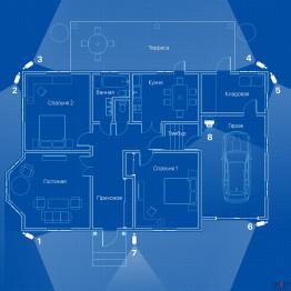 IP видеонаблюдение 8 камер (2 Мп) для частного дома