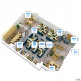 IP видеонаблюдение 7 камер (2Мп) для соц. инфраструктуры