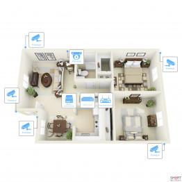 IP видеонаблюдение 6 камер (2 Мп) для частного дома