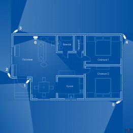 Видеонаблюдение AHD 2Мп 6 камер для частного дома