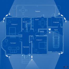 Видеонаблюдение AHD 2Мп 8 камер для частного дома
