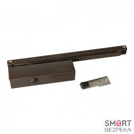 Доводчик дверной Geze TS 5000V ЕN 2/3/4/5/6 скользящая тяга с фиксацией (коричневый)