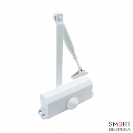 Доводчик дверной ECO-Schulte TS-10 ЕN 2/3/4 White локтевая тяга с фиксацией