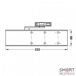 Доводчик дверной Dorma TS 72 EN 2/3/4 Silver локтевая тяга с фиксацией - Фото № 7