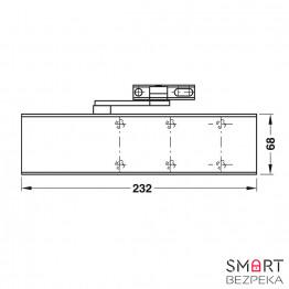 Доводчик дверной Dorma TS 72 EN 2/3/4 White локтевая тяга с фиксацией - Фото № 8