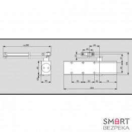 Доводчик дверной Dorma TS 73 EN 2/3/4 Silver локтевая тяга с фиксацией - Фото № 12