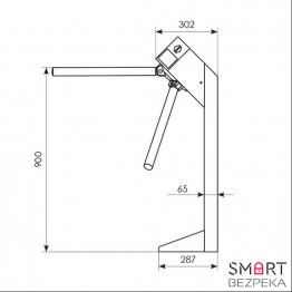 Турникет трипод Expert окрашенная сталь электромеханический штанга алюминий 3.6.4 Mifare-id + Mifare-id