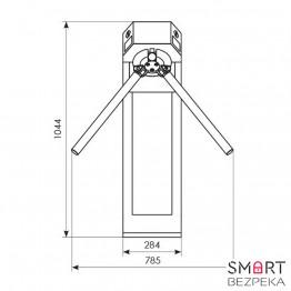 Турникет трипод Expert окрашенная сталь электромеханический штанга алюминий 3.6.4 Mifare-id + Mifare-id - Фото № 19