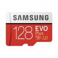 Карта памяти Samsung 128GB microSDXC C10 UHS-I U3 R100/W60MB/s Evo Plus V2 + SD адаптер (MB-MC128HA/RU)