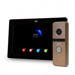Комплект видеодомофона ATIS AD-770FHD Black + AT-400HD Gold