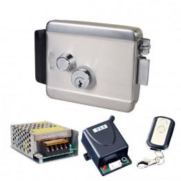 Комплект контроля доступа с электромеханическим замком ATIS Lock SS, радиоконтроллером Yli Electronic WBK-400-1-12, блоком питания Full Energy BGM-123Pro 12 В / 3 А
