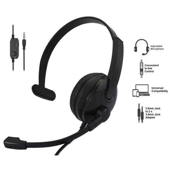Гарнитура 2E CH12 Mono On-Ear 3.5mm / 2*3.5mm