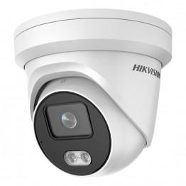 IP-видеокамера 4 Мп Hikvision DS-2CD2327G2-LU (4 мм) ColorVu со встроенным микрофоном для системы видеонаблюдения