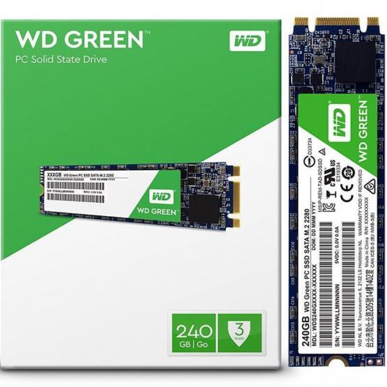 Твердотельный накопитель SSD M.2 WD Green 480GB 2280 SATA TLC