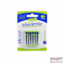 Батарейки щелочные EnerGenie EG-LR03-4BL/4