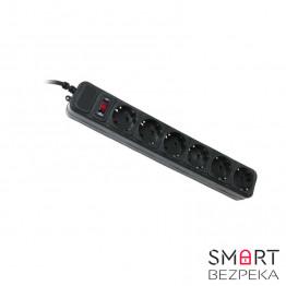 Сетевой фильтр Gembird SPG6-G-6B 1.8 м кабель 6 розеток черный