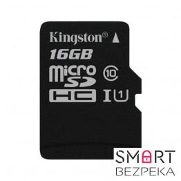 Карта памяти Kingston 16GB microSDHC C10 UHS-I (SDC10G2/16GBSP)