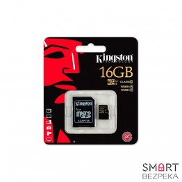 Карта памяти Kingston 16GB microSDHC C10 + SD адаптер (SDCA10/16GB) - Фото № 3