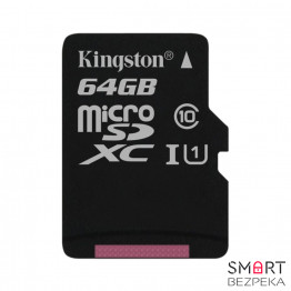 Карта памяти Kingston 64GB microSDXC C10 UHS-I (SDC10G2/64GBSP)