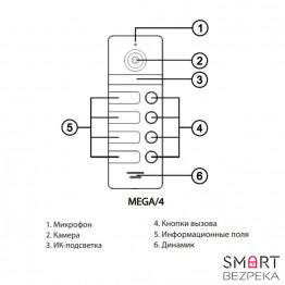 Вызывная панель NeoLight MEGA/4 - Фото № 23