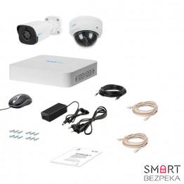 Комплект IP видеонаблюдения Tecsar Lead IP 2MIX-2MP