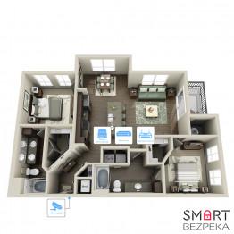 IP видеонаблюдение 1 камера (2Мп) для частного дома