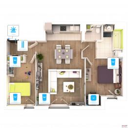 Беспроводная сигнализация для квартиры 5 датчиков