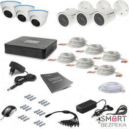 Комплект видеонаблюдения Tecsar 6OUT-MIX LUX