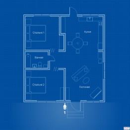Видеонаблюдение AHD 1Мп 1 PTZ-камера для частного дома