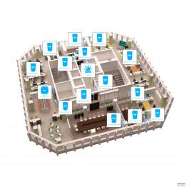 Беспроводная сигнализация для офиса 14 датчиков