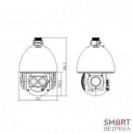 Роботизированная (Speed Dome) IP-камера Dahua DH-SD6AL240-HNI - Фото № 16