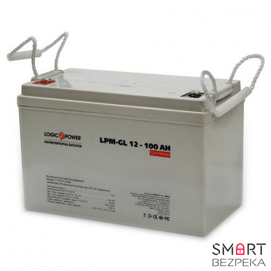 Аккумулятор LogicPower LPM-GL 12V 100AH (LPM-GL 12 - 100 AH)
