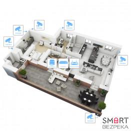IP видеонаблюдение 6 камер (1.3 Мп) для частного дома