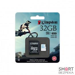 Карта памяти Kingston 32GB microSDHC C10 UHS-I U3 + SD адаптер Action (SDCAC/32GB) - Фото № 7