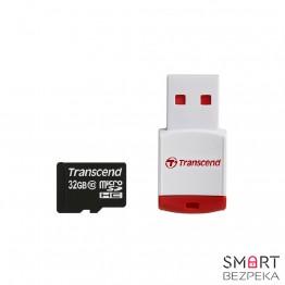Карта памяти Transcend MicroSDHC 32GB Class 10 + P3 Card Reader (TS32GUSDHC10-P3)