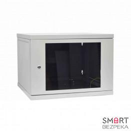 Телекоммуникационный шкаф настенный СН-9U-06-06-ДС-1-7035