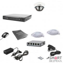 Комплект IP видеонаблюдения Tecsar IP 1DOME LUX