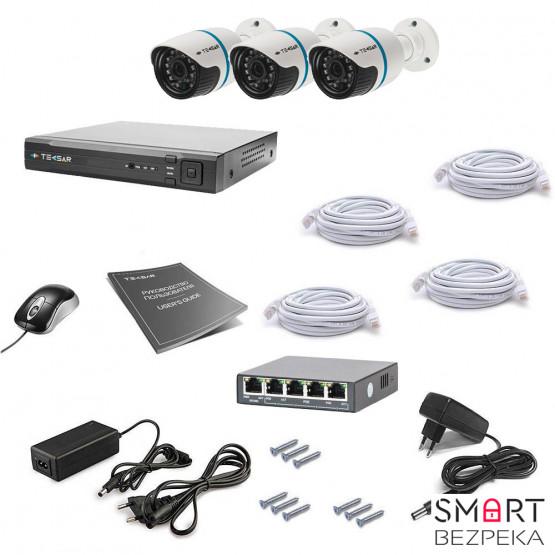Комплект IP видеонаблюдения Tecsar IP 3OUT LUX