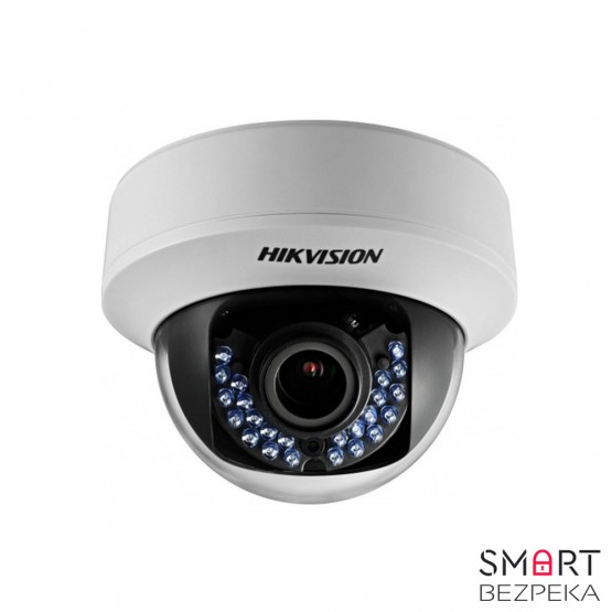 Купольная Turbo HD видеокамера Hikvision DS-2CE56D1T-VFIR (2.8-12)