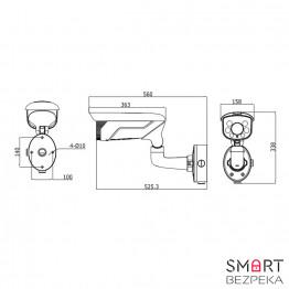Уличная IP-камера Hikvision DS-2CD4665F-IZS (2.8-12)