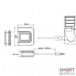 Сканер отпечатков пальцев ZKTeco SLK20R