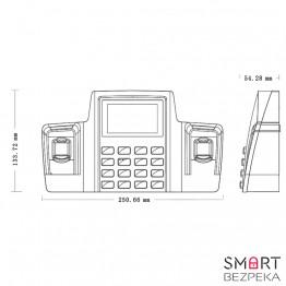 Система учета рабочего времени по отпечатку пальца ZKTeco DS100