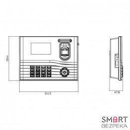 Биометрический терминал ZKTeco IN01A-ID
