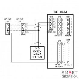 Многоабонентская вызывная аудиопанель Commax DR-4UM