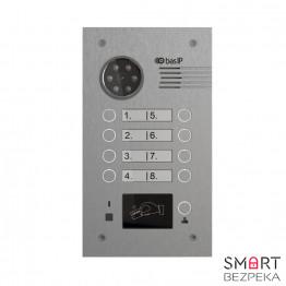 Многоабонентская вызывная панель Bas IP BA-08M SILVER (Mifare)