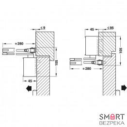 Доводчик дверной Dorma TS 72 EN 2/3/4 локтевая тяга с фиксацией - Фото № 2